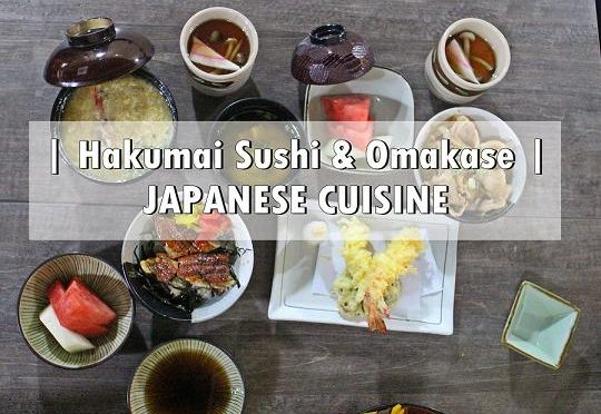 [SG EATS] HAKUMAI SUSHI & OMAKASE |INTERNATIONAL PLAZA