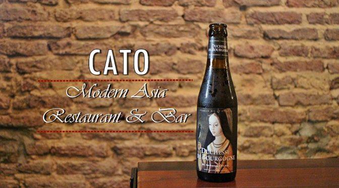 [SG EATS] CATO |Modern Asia Restaurant & Bar