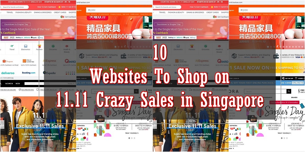 10 Websites to shop on 11.11 Crazy Sales in Singapore – Get Ready To Splurge!