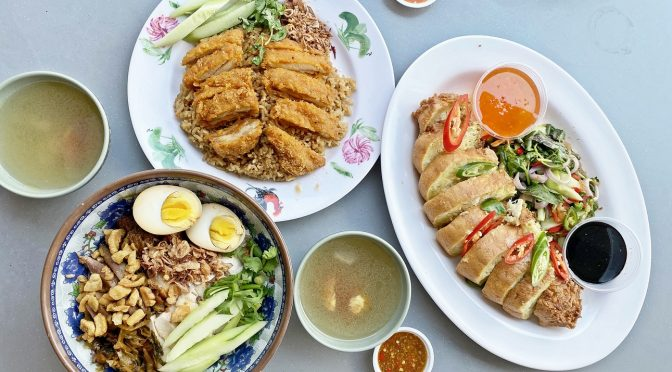 [SG EATS] Pratunam Famous Chicken And Pork Leg Rice in Geylang Serving Raan Jay Fai Inspired Crab Omelette