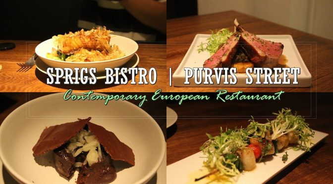 [SG EATS] DINE IN WITH SPRIGS BISTRO | 12 PURVIS STREET